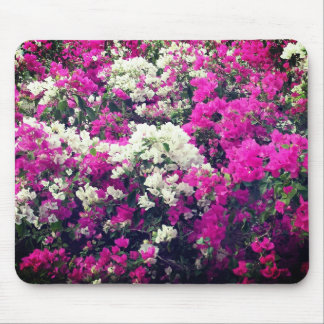 Purple and White Flowers Mouse Pad