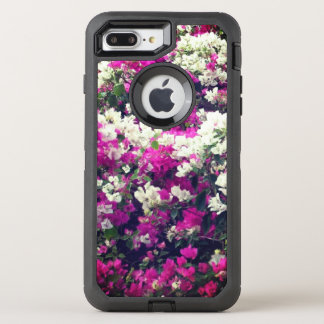 Purple and White Flowers OtterBox Defender iPhone 8 Plus/7 Plus Case