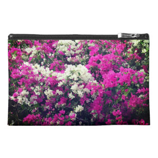 Purple and White Flowers Travel Accessory Bag