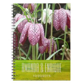 Purple and White Fritillary Flowers Notebooks