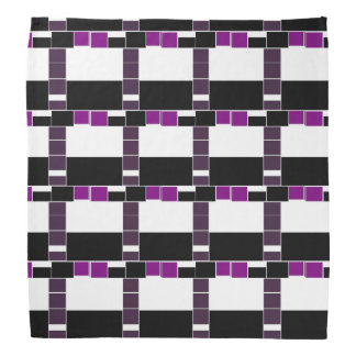 Purple And White Geometrical Pattern Bandana