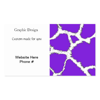 Purple and White Giraffe Pattern Business Card
