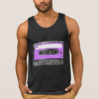 Purple and White Houndstooth Label Cassette Singlet