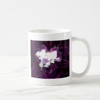 Purple and White Iris Coffee Mugs
