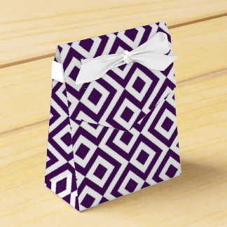 Purple and White Meander Tent Favor Box Party Favour Boxes