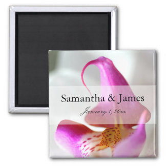 Purple and White Orchid Personal Wedding Magnet