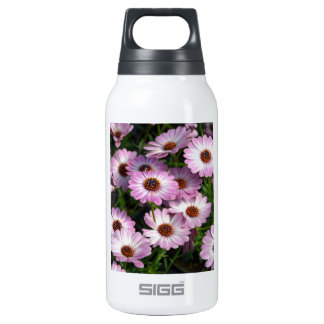 Purple and white osteospermum flowers 0.3 litre insulated SIGG thermos water bottle