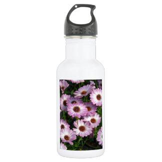 Purple and white osteospermum flowers 532 ml water bottle