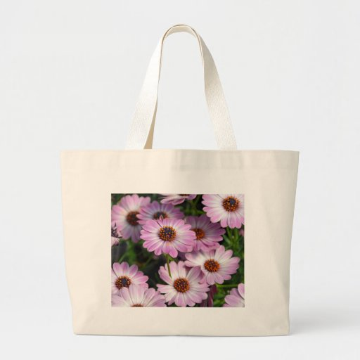 Purple and white osteospermum flowers tote bag