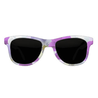 Purple and White Pansies Sunglasses