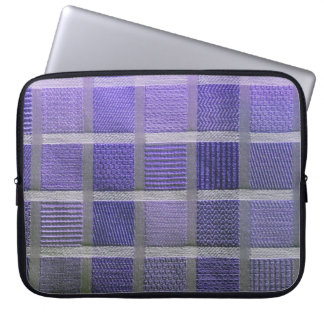 Purple and White Plaid Laptop Sleeve