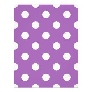 Purple And White Polka Dot Pattern 21.5 Cm X 28 Cm Flyer