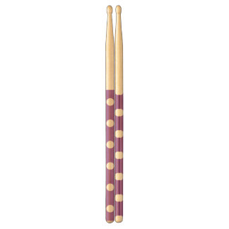 Purple And White Polka Dot Pattern Drumsticks