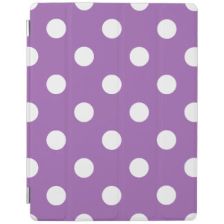Purple And White Polka Dot Pattern iPad Cover