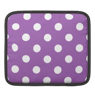 Purple And White Polka Dot Pattern iPad Sleeve