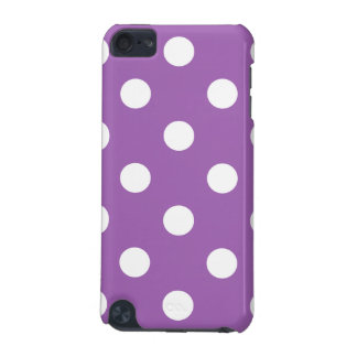 Purple And White Polka Dot Pattern iPod Touch 5G Case