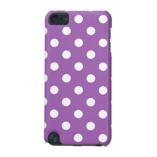 Purple And White Polka Dot Pattern iPod Touch (5th Generation) Cases