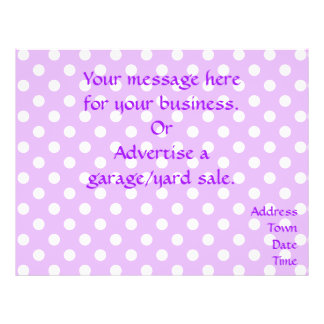 Purple and White Polka Dots 21.5 Cm X 28 Cm Flyer
