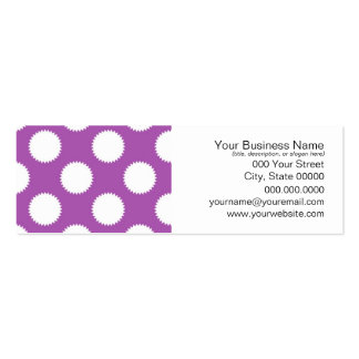 Purple and White Polka Dots Pack Of Skinny Business Cards