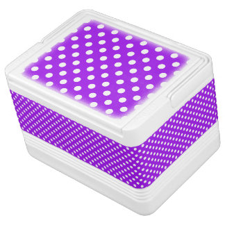 Purple and White Polka Dots Cooler