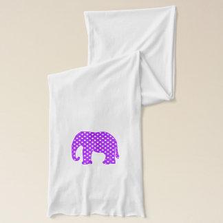 Purple and White Polka Dots Elephant Scarf