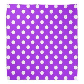 Purple and White Polka Dots Head Kerchiefs