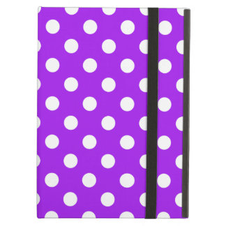 Purple and White Polka Dots iPad Air Cover