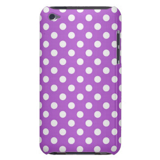 Purple and White Polka Dots iPod Case-Mate Case
