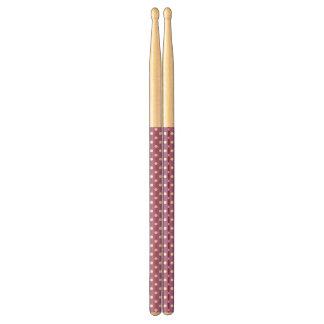 Purple and White Polka Dots Pattern