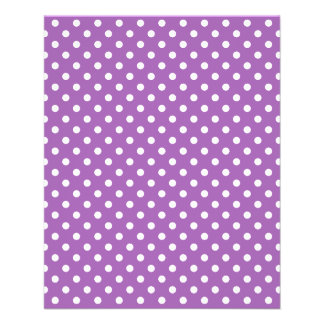 Purple and White Polka Dots Pattern 11.5 Cm X 14 Cm Flyer
