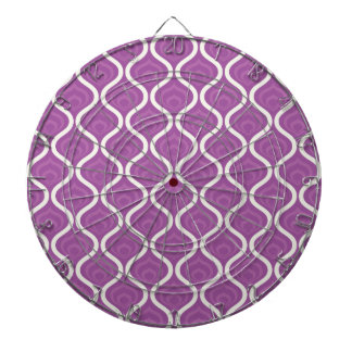 Purple and White Retro Pattern Dart Boards