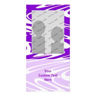 Purple and White Retro Pattern. Photo Card Template