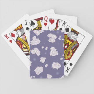 Purple and White Roses Playing Cards
