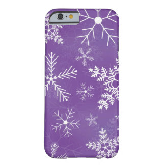 Purple and White Snowflake Pattern Barely There iPhone 6 Case