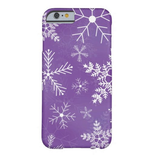 Purple and White Snowflake Pattern iPhone 6 Case