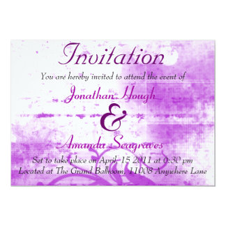 Purple and White Spraypaint Invitation