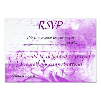 Purple and White Spraypaint RSVP Custom Invitations
