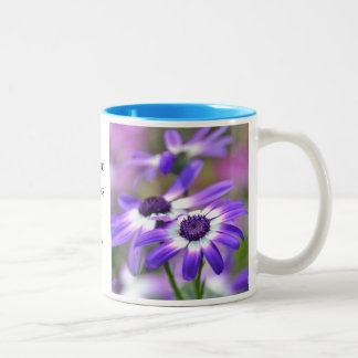 Purple and White Spring Flowers Joy Coffee Mug