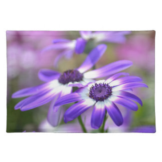Purple and White Spring Flowers Place Mat