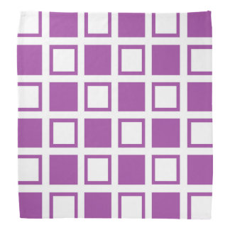 Purple and White Squares Bandana