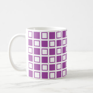 Purple and White Squares Coffee Mug