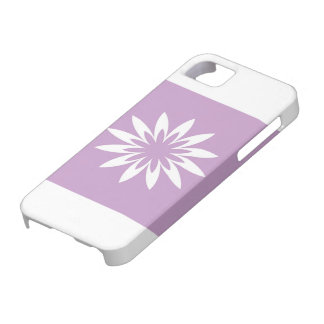 Purple and white star flower iPhone 5 cases