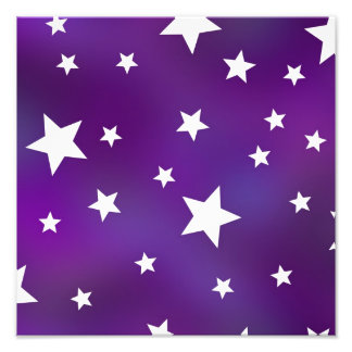 Purple and White Star Pattern Photograph