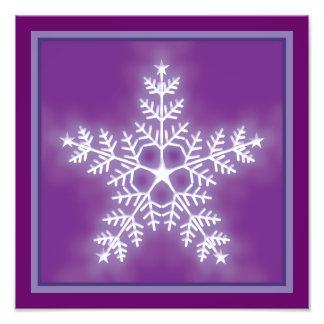 Purple and White Star Snowflake Photo