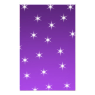 Purple and White Stars, Pattern. Personalized Flyer