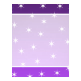 Purple and White Stars, Pattern. Custom Flyer