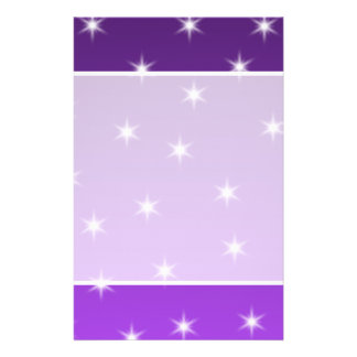 Purple and White Stars, Pattern. 14 Cm X 21.5 Cm Flyer