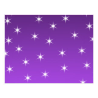 Purple and White Stars, Pattern. 21.5 Cm X 28 Cm Flyer