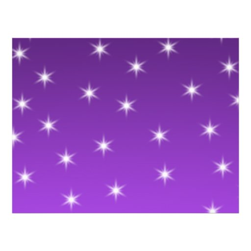 Purple and White Stars, Pattern. Flyers