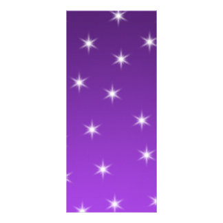 Purple and White Stars Pattern Personalized Rack Card